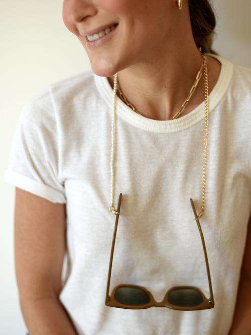 Cordinha de Óculos Corrente e Pérola All Beads