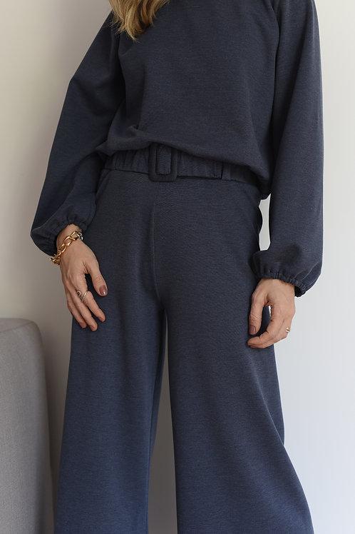 Calça de Moletom Azul Mescla Missinclof