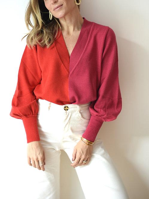 Sweater Tricot Bicolor Missinclof
