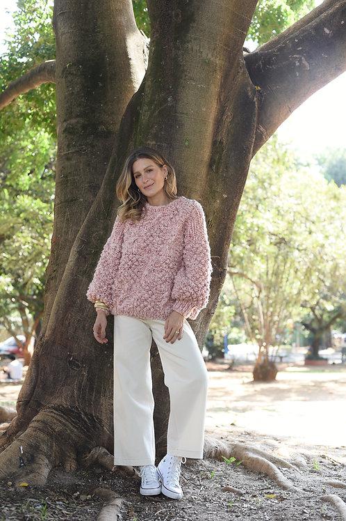 Sweater Tricot Regina Rosa Matchá Sissa