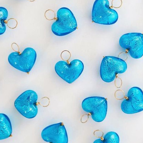 Pingente Coração Azul Koralle