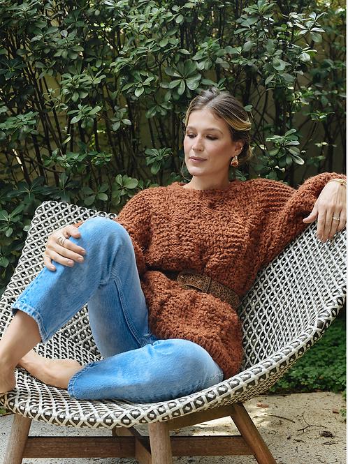 Sweater Tricot Regina Canela Sissa