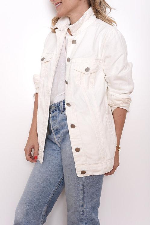 Jaqueta Jeans Off White Luiza Botto