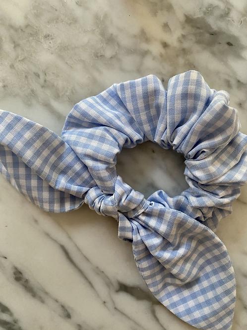 Scrunchie Vichy Azul Claro