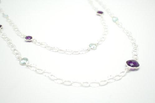 Amethyst & Aqua Capri Link Necklace