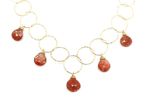Sun Goddess Dancing Drop Necklace