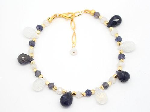 Venetian Moonstone & Iolite Bracelete