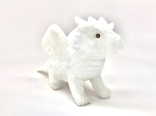 White Calcite Dragon