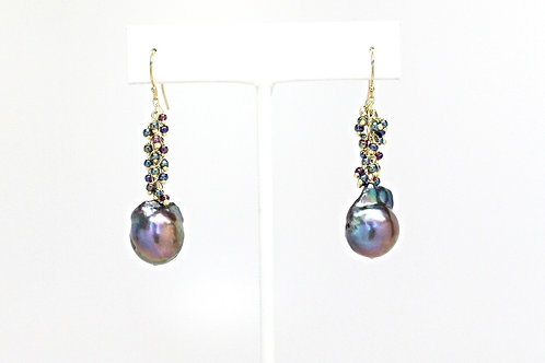 Peacock Party Earrings