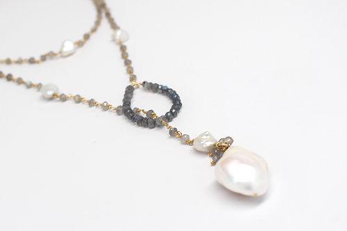 Multi-Wear Pearl Drop Lariat