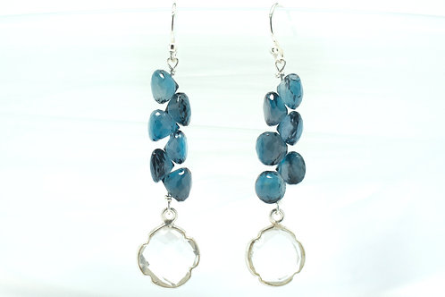 London Blue Topaz Fantasy Drop Earrings