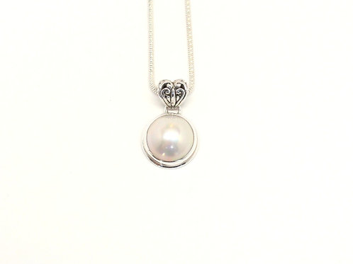 White Mabe Pearl Sweet Heart Pendant