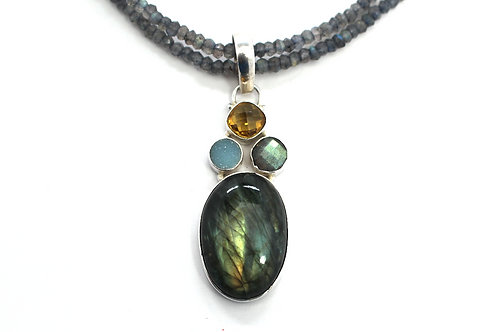 Third Eye Labradorite Necklace