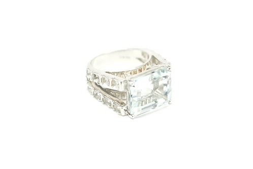 Stunning White Topaz Ring