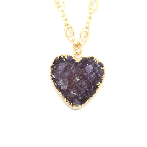 Queen Of My Heart Necklace (Amethyst)