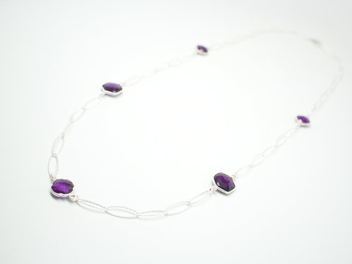 Amethyst Sprinkle Necklace 30""