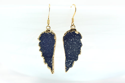 Royal Blue Crystal Angel's Wings
