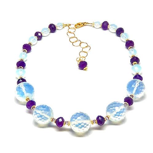 Opalite & Amethyst Necklace