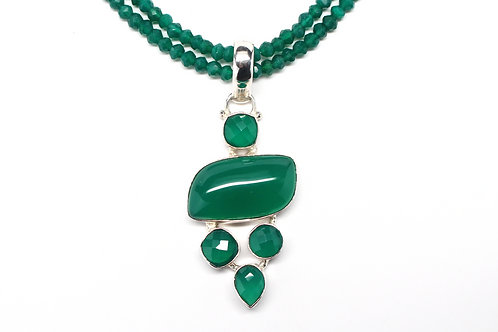 Glowing Green Onyx Necklace