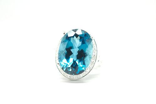 Exquisite London Blue Topaz Fantasy Ring