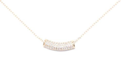 Rose Gold CZ Barrel Necklace