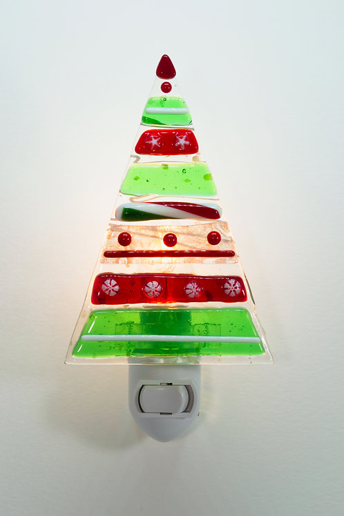 Tree Nightlight -Holiday Stripes