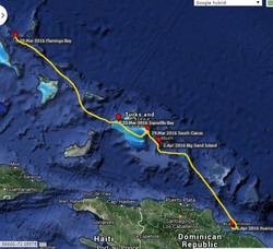 Route Bahamas-Dom.Rep