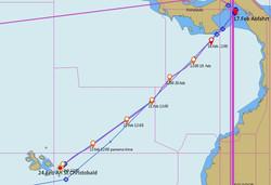 Route Las Perlas-Galapagos