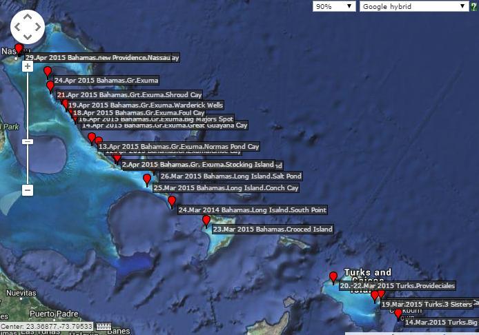 Turks&Caicos und Bahamas