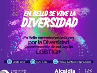 Bello encenderá los colores de la Diversidad.