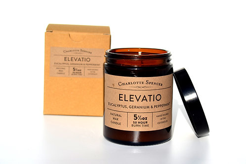 Elevatio 5.5 oz Natural Wax Essential Oil Candle
