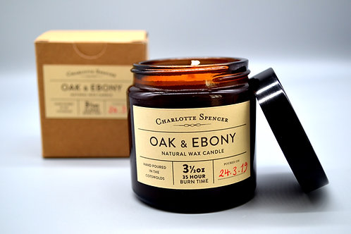 Oak & Ebony 3.5 oz Natural Wax Candle