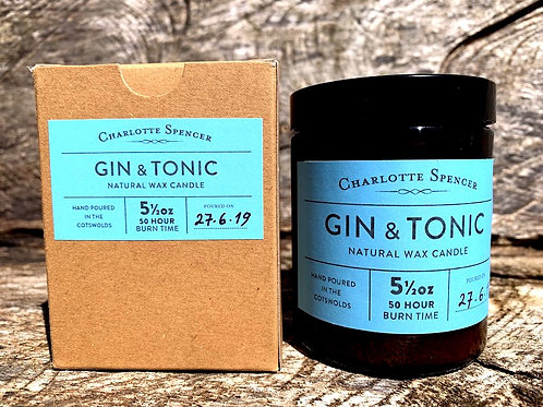Gin & Tonic 5.5 oz Natural Wax Candle