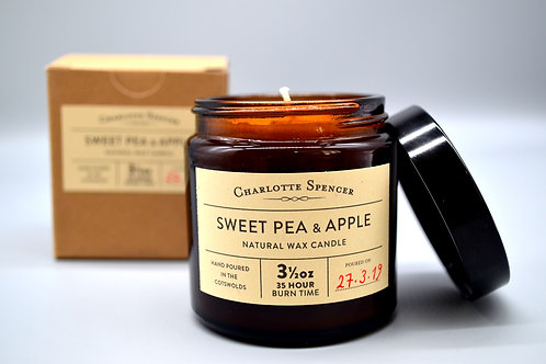 Sweet Pea & Apple 3.5 oz Natural Wax Candle