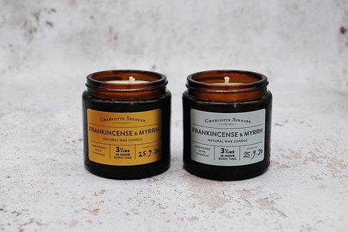 Frankincense Myrrh 3.5 oz Natural Wax Candle