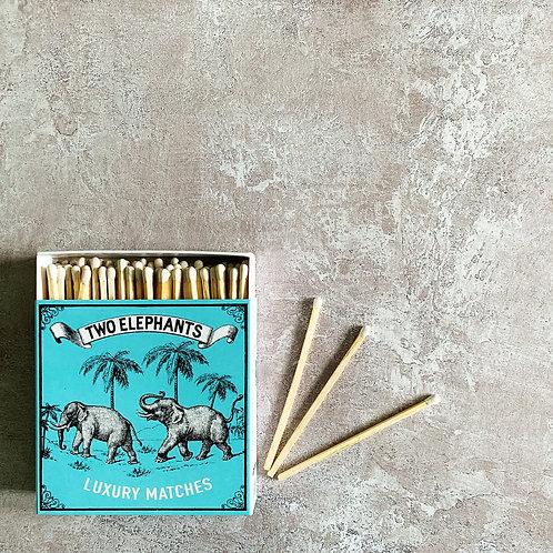 Luxury Boxed Matches - Two Elephants
