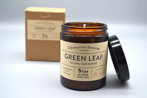 Green Leaf 5.5 oz Natural Wax Candle