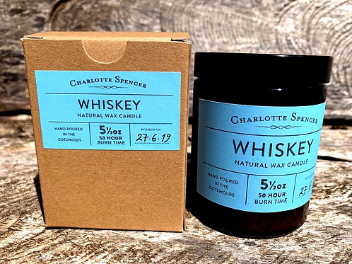 Whiskey 5.5 oz Natural Wax Candle