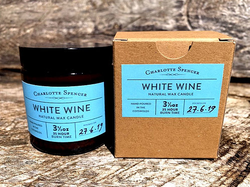White Wine 3.5 oz Natural Wax Candle