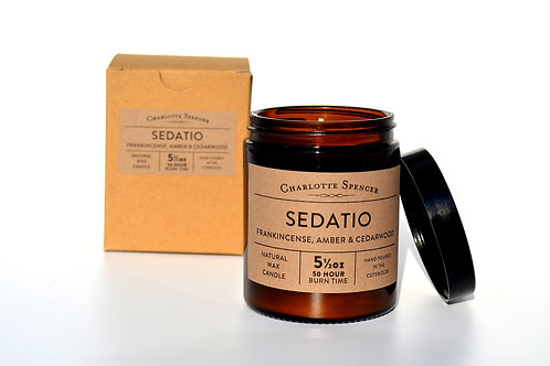 Sedatio 5.5 oz Natural Wax Essential Oil Candle