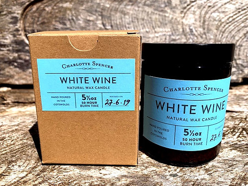 White Wine 5.5 oz Natural Wax Candle