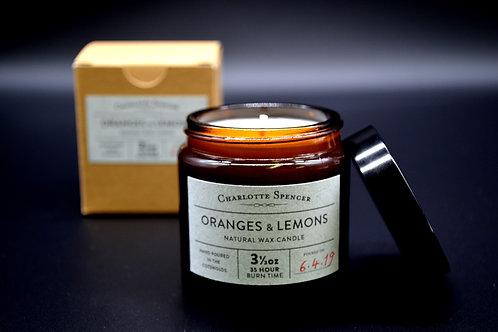 Oranges & Lemons 3.5 oz Natural Wax Candle