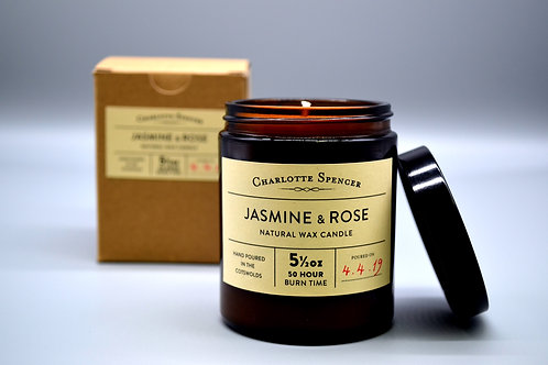 Jasmine & Rose 5.5 oz Natural Wax Candle