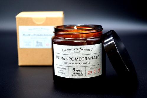 Plum & Pomegranate 3.5 oz Natural Wax Candle