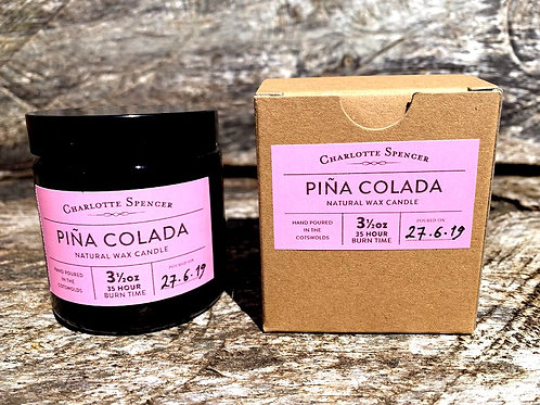 Pina Colada 3.5 oz Natural Wax Candle