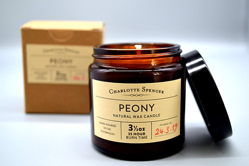 Peony 3.5 oz Natural Wax Candle