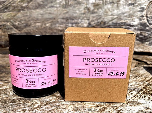 Prosecco 3.5 oz Natural Wax Candle