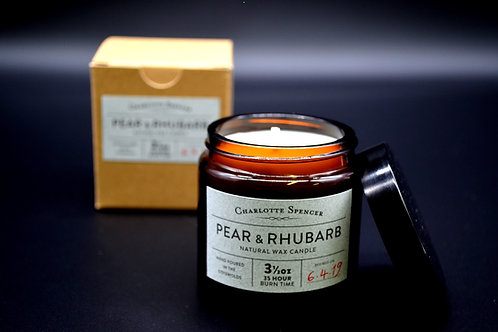 Pear & Rhubarb 3.5 oz Natural Wax Candle