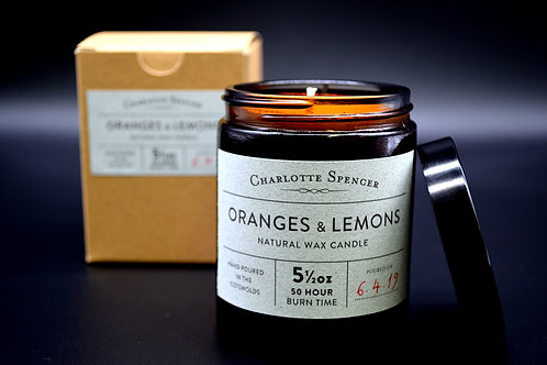 Oranges & Lemons 5.5 oz Natural Wax Candle