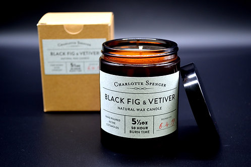 Black Fig & Vetiver 5.5 oz Natural Wax Candle